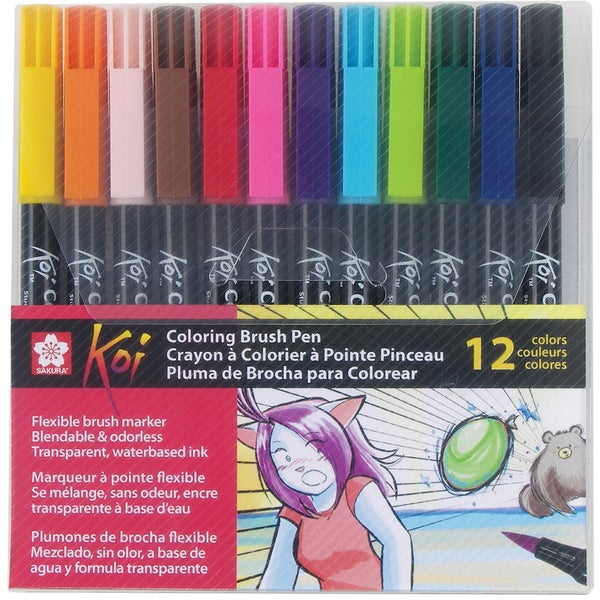 Koi Coloring Brush Set-12 Color Set