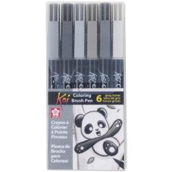 Koi Coloring Brush Set-6 Gray Color Set