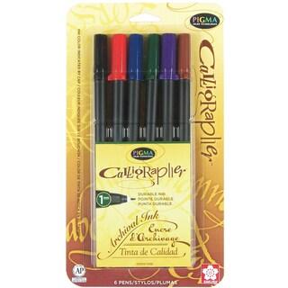 Pigma Calligrapher 6/Pkg-1mm Assorted Colors