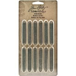 Advantus - Tim Holtz Idea-ology Metal Word Decorative Bands (12-pack)