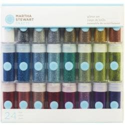 Martha Stewart Essentials Glitter Set .37 Ounce 24/Pkg-