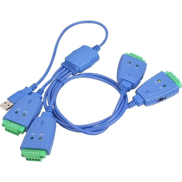 SIIG 4-Port Industrial USB to RS-422/485 Serial Adapter Cable with 3K