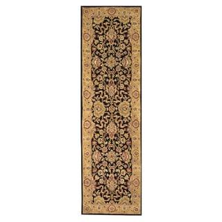 Alliyah Handmade Moon Indigo New Zealand Blend Wool Rug (3' x 10')