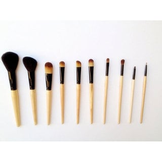 Fortuna 10-piece Birch Pony, Goat & Taklon Hair Makeup Brush Set