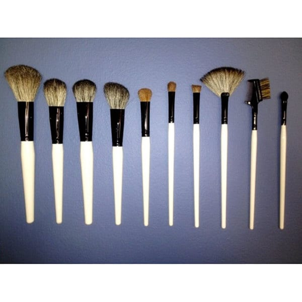 Fortuna 10-piece White Pony and Sable Hair Makeup Brush Set