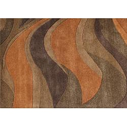 Alliyah Hand Made Metro Classic Multi Color Wool Area Rug (5' x 8')