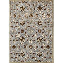 Alliyah Handmade Pearl Blue New Zealand Blend Wool Rug (5' x 8')