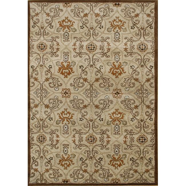 Alliyah Handmade Brown Sugar New Zealand Blend Wool Rug (5' x 8')