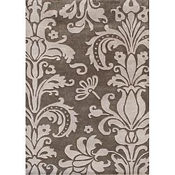 Alliyah Handmade Grey New Zealand Blend Wool Rug (10' x 12')