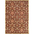 Alliyah Hand Made Burgundy New Zealand Blend Wool Rug (6' x 9')