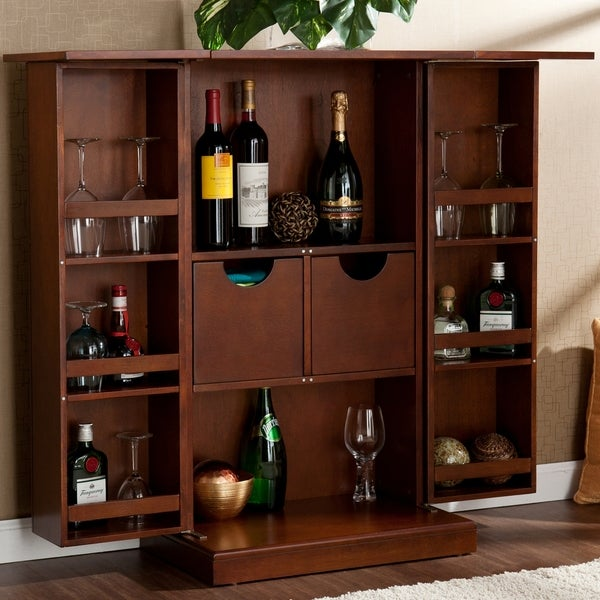 Upton Home Trinity Walnut Fold-away Bar