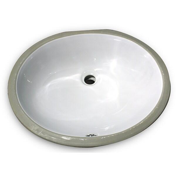 17x14 Glazed Bottom White Ceramic Sink
