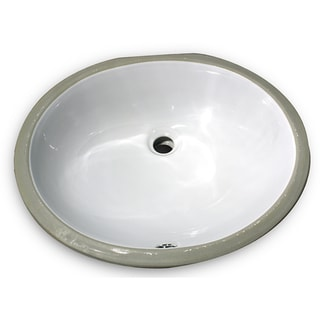 17x14 Glazed Bottom White Ceramic Sink
