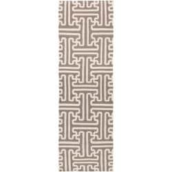 Smithsonian Hand-woven Beige Queens Bay Wool Rug (2'6 x 8')