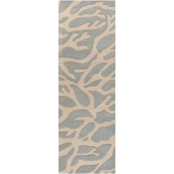 Somerset Bay Hand-tufted Bacelot Bay Grey Beach Inspired Wool Rug (2'6 x 8')