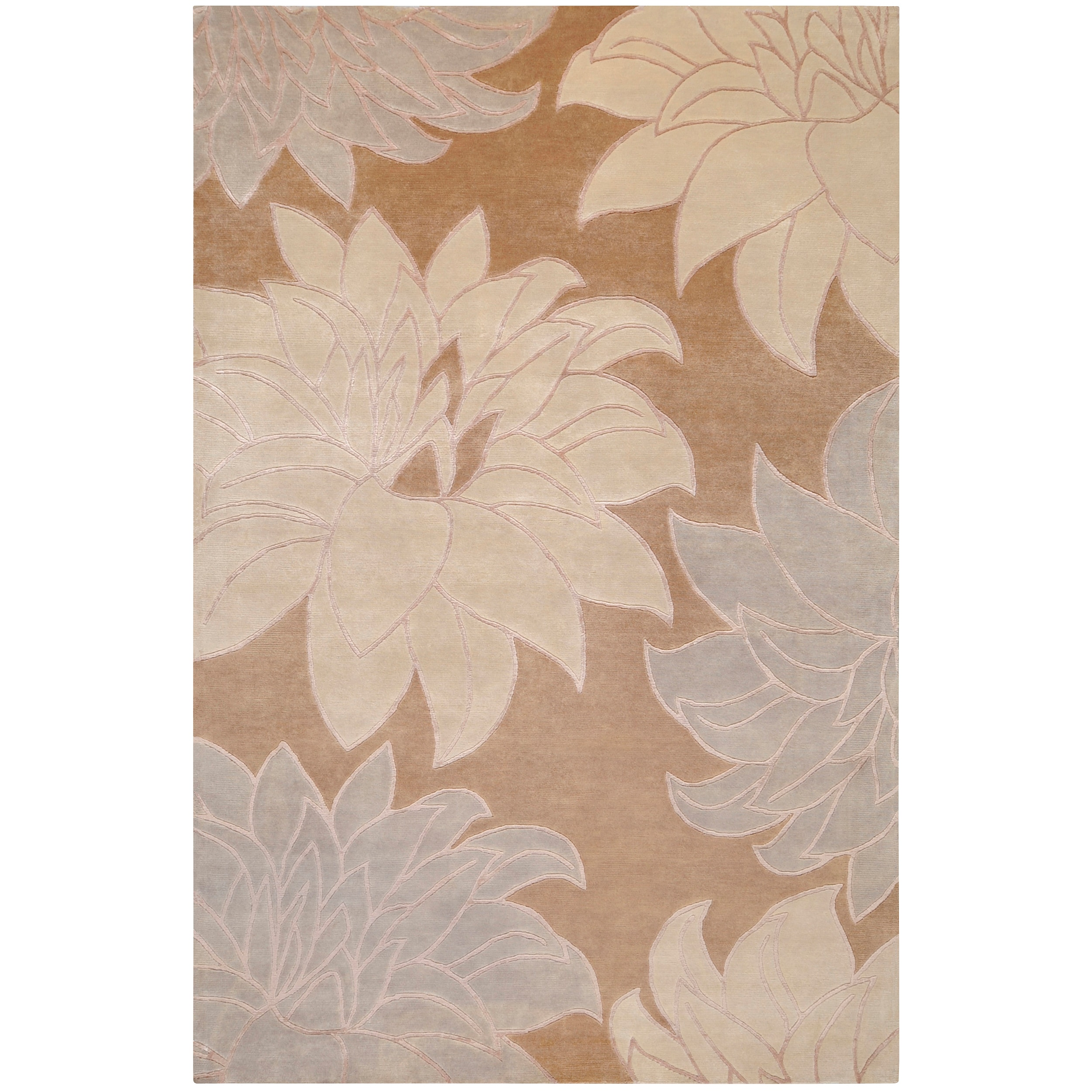 Hand-knotted Multicolored InsBrownce New Zealand Wool Rug (9' x 13')