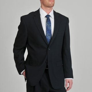 Montefino Mondo Men's 'Super 120 Merino' Navy Stripe Wool Suit