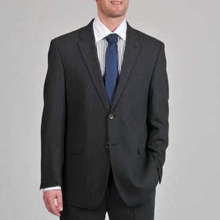 Montefino Mondo Men's 'Super 120 Merino' Charcoal Wool Suit
