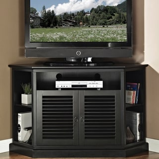 52 in. Black Wood Corner TV Stand