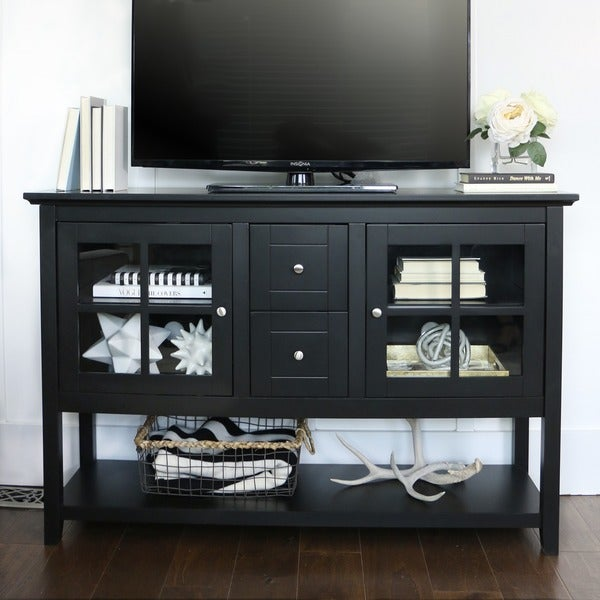 Black 52-inch Wood Console Table/ Buffet