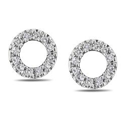 Miadora 14k White Gold 1/10ct TDW Diamond Earrings (G-H, I1-I2)