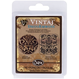 "Sizzix DecoEmboss Embossing Folder 2.725""X2.375"" by Vintaj-Nouveau Roses"