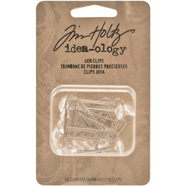 Idea-Ology Metal Gem Clips 12/Pkg