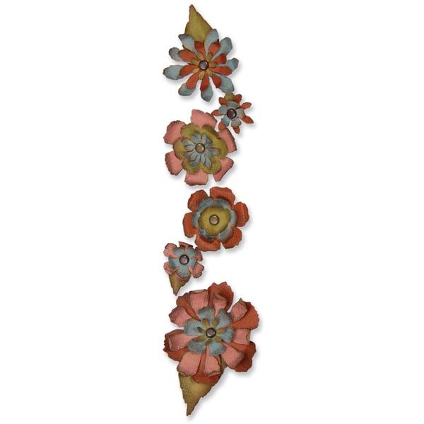 Sizzix Sizzlits Decorative Strip Die By Tim Holtz-Tattered Flower Garland