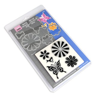 Sizzix Framelits Dies 5/Pkg With Stamps-Bold Pop