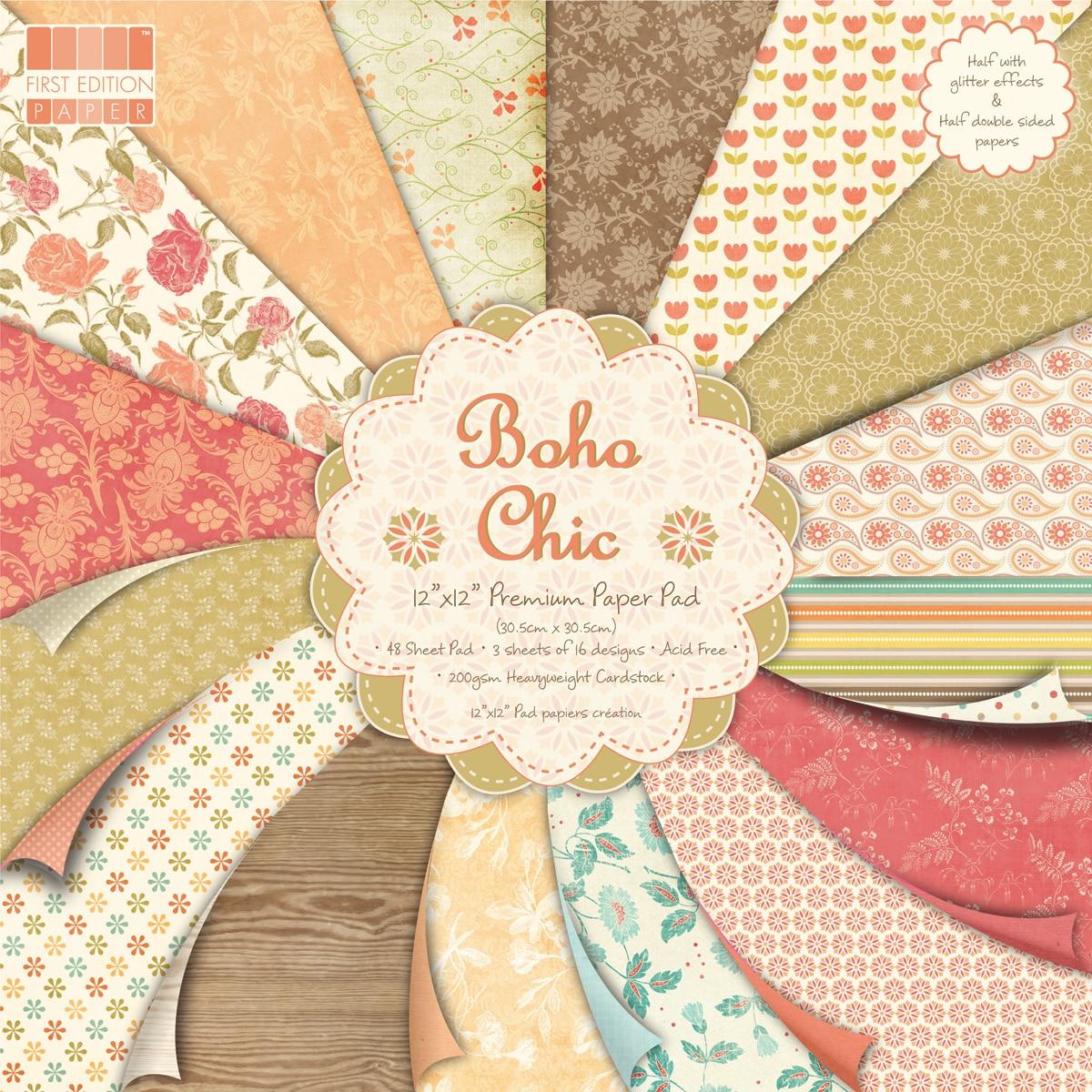"Premium Paper Pad 12""X12"" 48/Sheets-Boho Chic"