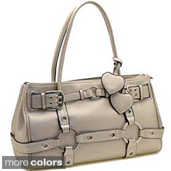 Faux-Leather Dasein Belted Shoulder Bag