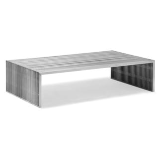 Novel Long Stainless Steel Coffee Table