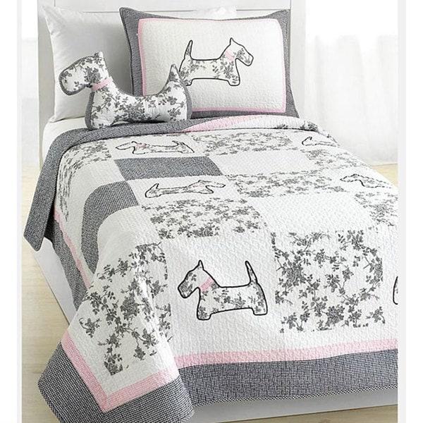 Scottie Pup 3-piece Quilt Set