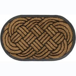 "Creative Coir/Rubber Door Mats with Border (1'5"" x 2'5"") (Set of 2)"