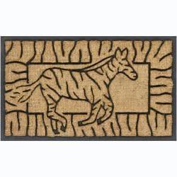 Creative Coir/ Rubber Door Mats (1'5 x 2'5) (Set of 2)