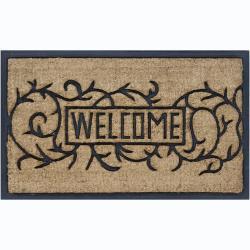 """Creative Coir/Rubber 'Welcome' Door Mats (1'5"""" x 2'5"""") (Set of 2)"""