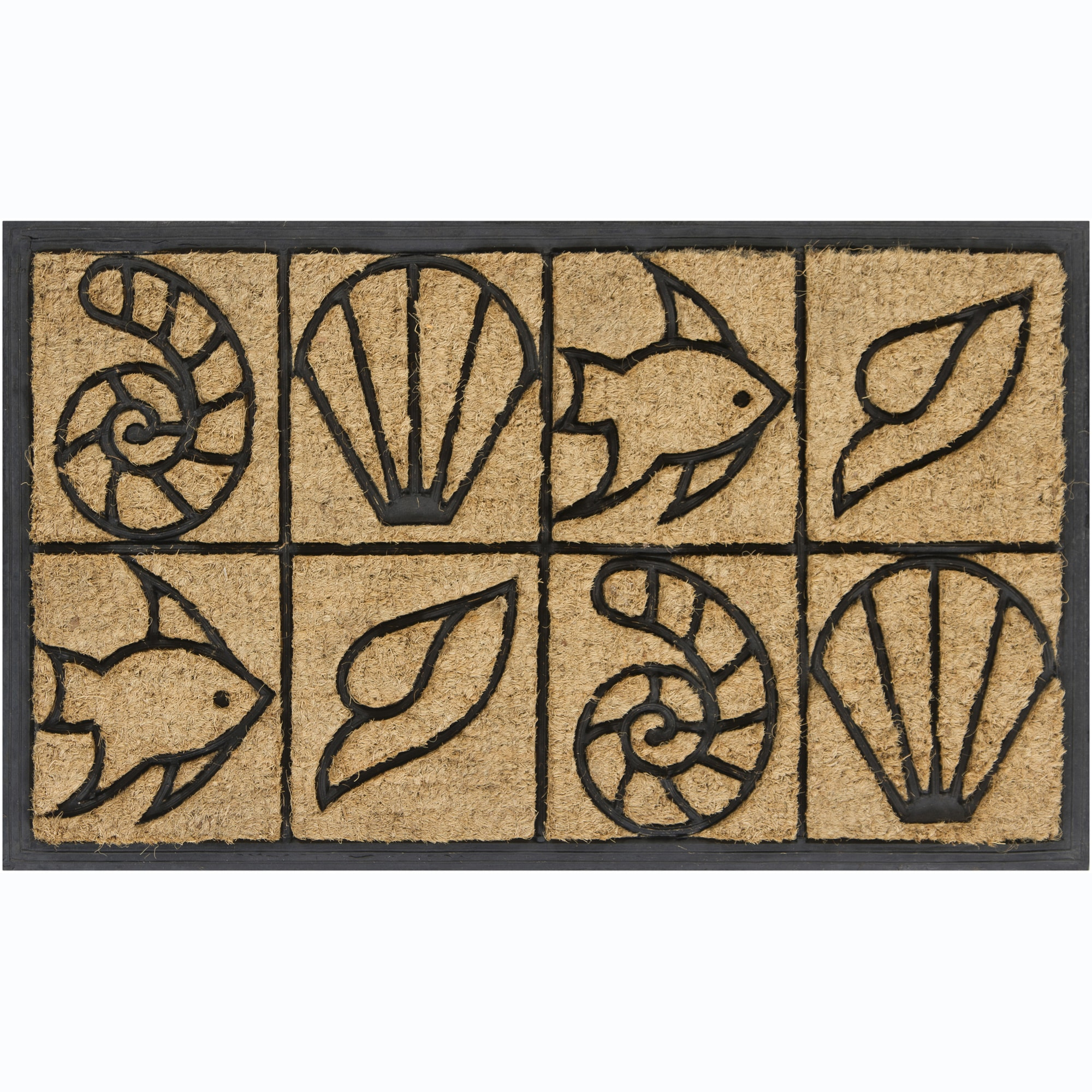 "Creative Coir/Rubber Indoor/Outdoor Door Mats (1'5"" x 2'5"") (Set of 2)"