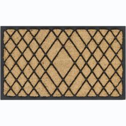 "Creative Coir/Rubber Geometric Door Mats (1'5"" x 2'5"") (Set of 2)"