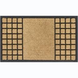"Creative Coir/Rubber Modern Door Mats (1'5"" x 2'5"") (Set of 2)"