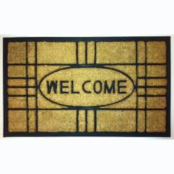 "Creative Coir/Rubber Contemporary Door Mats (1'5"" x 2'5"") (Set of 2)"