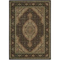 Nourison Persian Arts Black Area Rug (5'3 x 7'5)