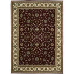 Floral Nourison Persian Arts Burgundy Rug (7'9 x 10'10)