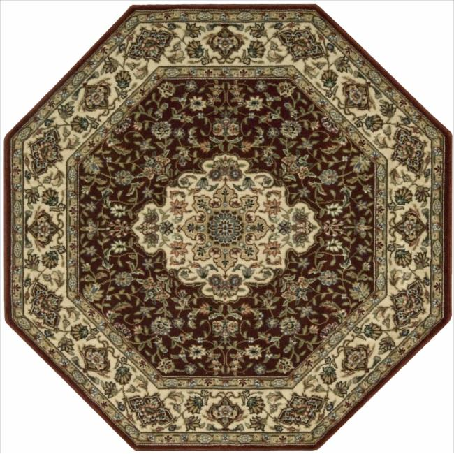 Nourison Persian Arts Burgundy Rug (5'3 x 5'3) Octagon