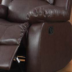 TRIBECCA HOME Coleford Brown Reclining Living Room Set (Set of 3)