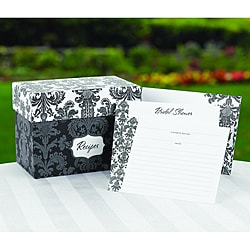Damask Recipe Box Gift Set