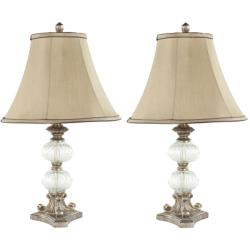 Indoor Princeton Glass Silk 1-light Table Lamps (Set of 2)