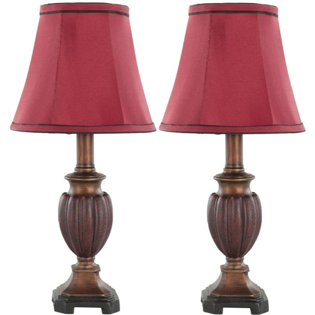 Safavieh Hermione Urn Red Shade 1-light Table Lamp (Set of 2)