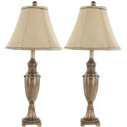 Indoor Napa Gold Silk 1-light Table Lamps (Set of 2)