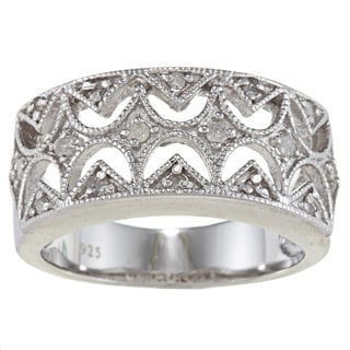 Sterling Silver 1/3ct TDW Diamond Vintage Ring (G-H, I2)