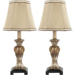 Safavieh Indoor August Gold Silk 1-light Table Lamps (Set of 2)